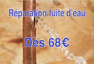 reparation de fuite d'eau