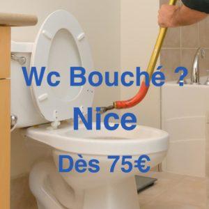 wc bouché nice